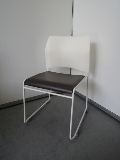 中央可鍛工業 スタッキングチェア6脚セット 中古|オフィス家具|ミーティングチェア