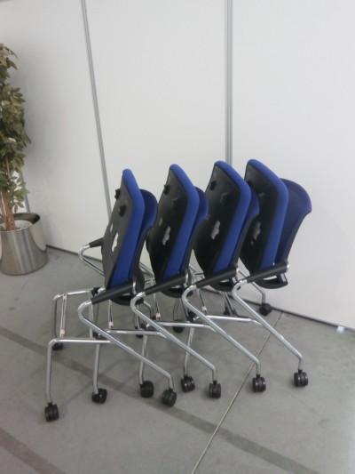 コクヨミーティングチェア4脚セット2000000025340メッキ脚タイプ/サテリテシリーズ詳細画像4