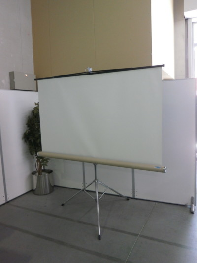 プラス プロジェクタースクリーン 中古|オフィス家具|その他