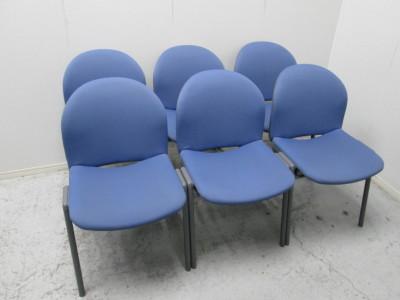 コクヨ  スタッキングチェア6脚セット 中古|オフィス家具|ミーティングチェア