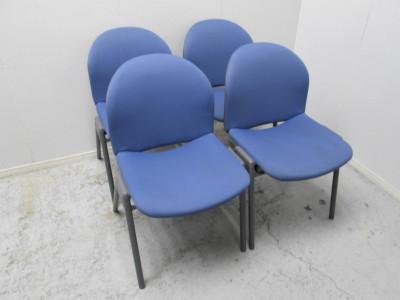 コクヨ  スタッキングチェア4脚セット 中古 オフィス家具 ミーティングチェア