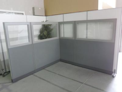 ウチダ(内田洋行) 4連L型パーテーション  中古|オフィス家具|パーテーション