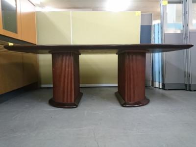 富士ファニチアミーティングテーブル2000000026065円形跡/キズ有詳細画像2