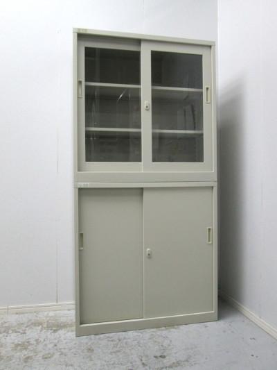 SIEKO FAMILY(生興)  ガラススライド上下書庫  中古|オフィス家具|書庫