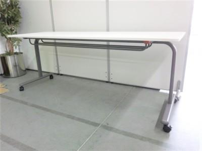 ウチダ(内田洋行)サイドスタックテーブル2000000026945幕板なし詳細画像2