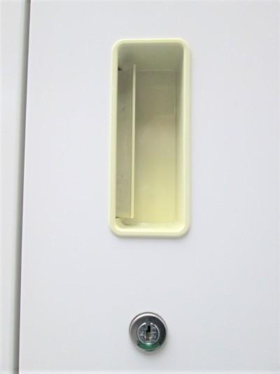 イトーキ両開き書庫2台セット2000000022265取手ヤケ有/前面小キズ有/搬入注意詳細画像2