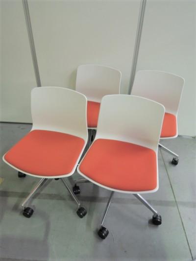 ウチダ(内田洋行) ミーティングチェア4脚セット 中古|オフィス家具|ミーティングチェア