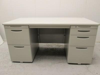 オカムラ 1400両袖デスク  中古|オフィス家具|事務机
