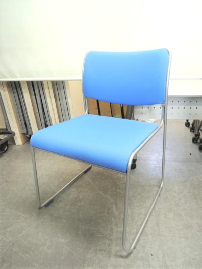 ウチダ(内田洋行) スタッキングチェア4脚セット 中古|オフィス家具|ミーティングチェア
