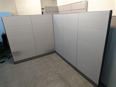 ウチダ(内田洋行) 5連L型パーテーション  中古|オフィス家具|パーテーション