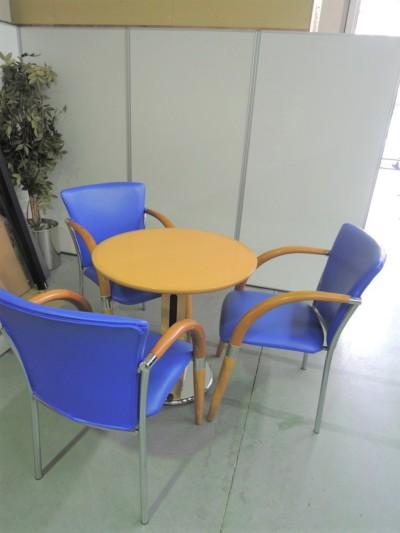 リフレッシュテーブル・チェア4点セット 中古|オフィス家具|ミーティングチェア