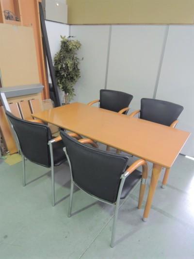 リフレッシュテーブル・チェア5点セット 中古|オフィス家具|ミーティングチェア