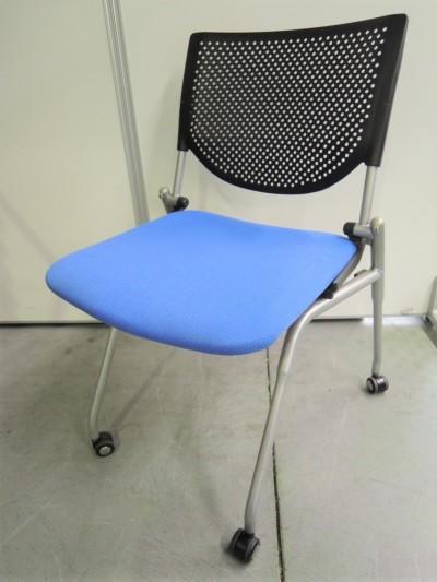 オカムラ ネスティングチェア3脚セット 中古|オフィス家具|ミーティングチェア|ミーティングチェア
