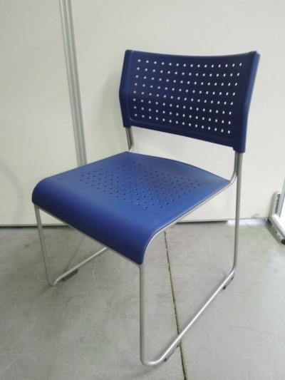 アイリスチトセ スタッキングチェア5脚セット 中古|オフィス家具|ミーティングチェア|スタッキングチェア