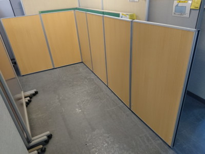 井上金庫 6連L型パーテーション  中古|オフィス家具|パーテーション