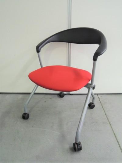 ウチダ(内田洋行) ネスティングチェア4脚セット 中古|オフィス家具|ミーティングチェア