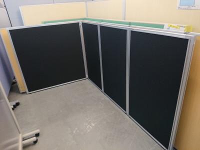 ライオン 4連L型パーテーション 中古|オフィス家具|パーテーション