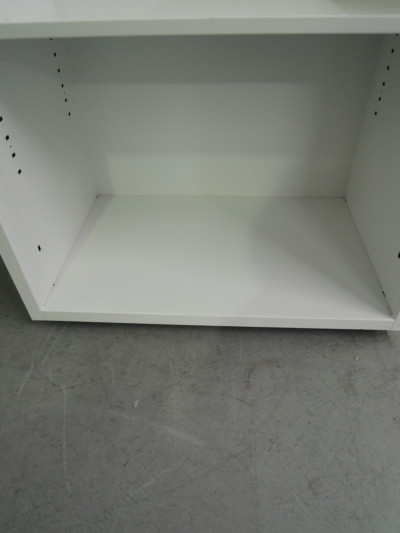 ウチダ(内田洋行)オープンワゴン2000000028736ヘコミ有/天板欠品/棚板1枚/キャスター付詳細画像2