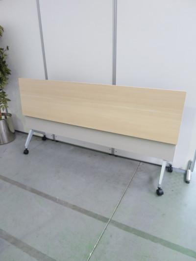 ウチダ(内田洋行)平行スタックテーブル2000000028725幕板付/棚板付/アウトレット詳細画像4