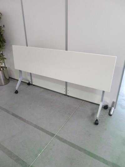 ウチダ(内田洋行)平行スタックテーブル2000000028726幕板なし/棚板なし メーカー色:ピュワホワイト詳細画像4