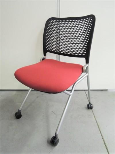 ウチダ(内田洋行 ネスティングチェア4脚セット 中古|オフィス家具|ミーティングチェア