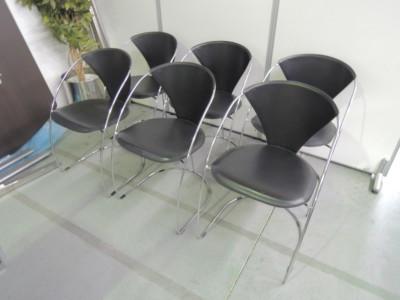 アルベン レザーアームチェア6脚セット 中古|オフィス家具|ミーティングチェア|デザイナーズ
