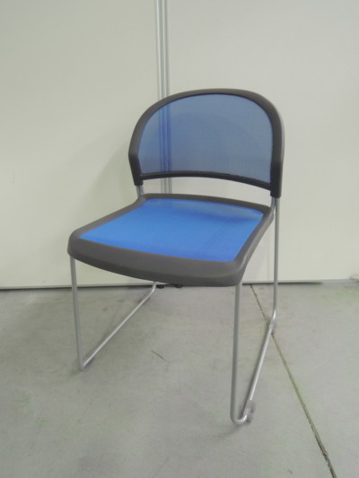 ウチダ(内田洋行) スタッキングチェア3脚セット 中古|オフィス家具|ミーティングチェア