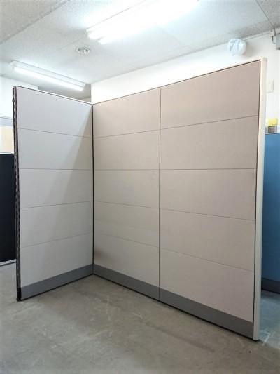 ウチダ(内田洋行) 3連L型パーテーション  中古|オフィス家具|パーテーション|連結式