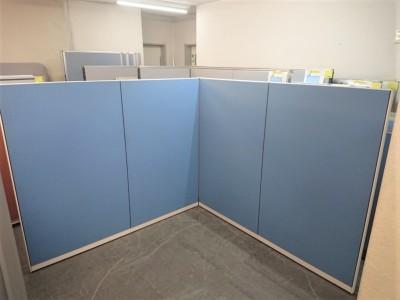 コクヨ 4連L型パーテーション  中古|オフィス家具|パーテーション|連結式