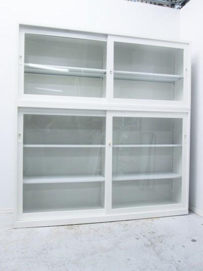 SEIKO FAMILY(生興)  ガラススライド上下書庫  中古|オフィス家具|書庫