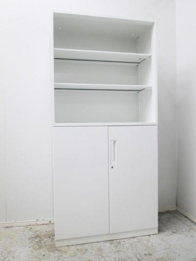 コクヨ  オープン両開き上下書庫 中古|オフィス家具|書庫