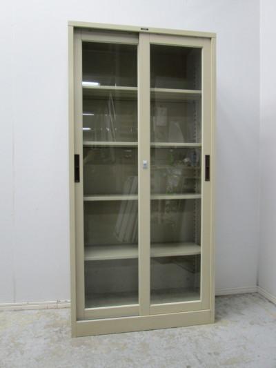 ナイキ ガラススライド書庫  中古|オフィス家具|書庫