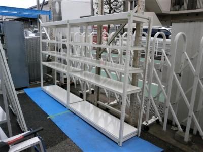 オカムラ 2連軽量棚  中古|オフィス家具|書庫|軽量棚