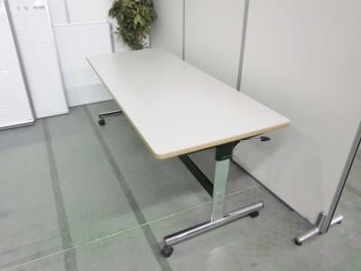 オカムラサイドスタックテーブル 2000000032085キズ有/脚カバーキャップ欠品詳細画像2