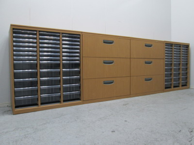 オカムラ キャビネット4台セット 中古|オフィス家具|書庫