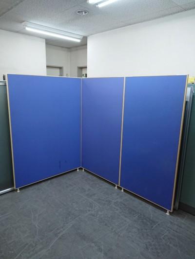トーカイスクリーン 3連L型パーテーション  中古|オフィス家具|パーテーション