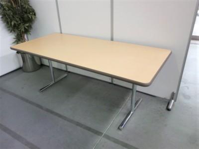 クロガネ ミーティングテーブル  中古 オフィス家具 ミーティングテーブル