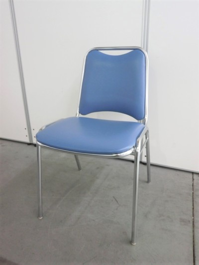 クロガネ スタッキングチェア4脚セット 中古|オフィス家具|ミーティングチェア