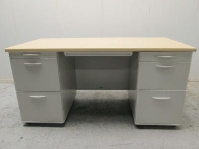 クロガネ 1400両袖デスク 中古|オフィス家具|事務デスク|両袖デスク