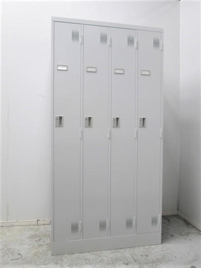 豊国工業 4人用ロッカー 中古|オフィス家具|ロッカー