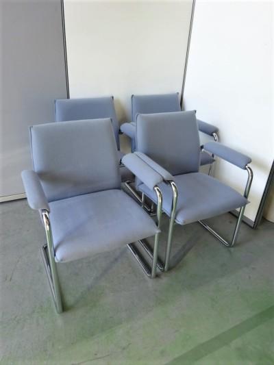 オカムラ  ミーティングチェア4脚セット 中古|オフィス家具|ミーティングチェア