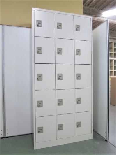 アルプス 15人用ロッカー  中古|オフィス家具|ロッカー