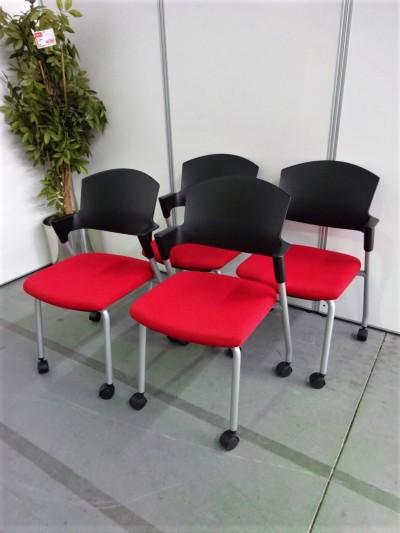 コクヨ  プロッティチェア4脚セット 中古 オフィス家具 ミーティングチェア
