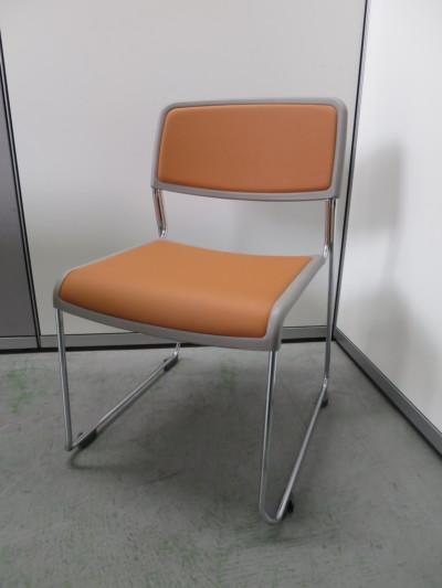 コクヨ スタッキングチェア3脚セット 中古|オフィス家具|ミーティングチェア