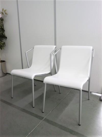 Steel Chair スタッキングチェア2脚セット 中古|オフィス家具|ミーティングチェア|スタッキングチェア