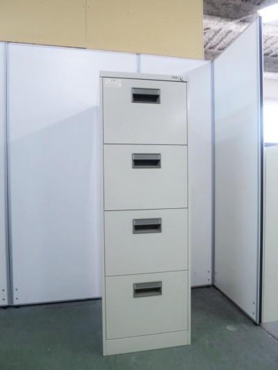 プラス B4 4段ファイルキャビネット 中古|オフィス家具|書庫