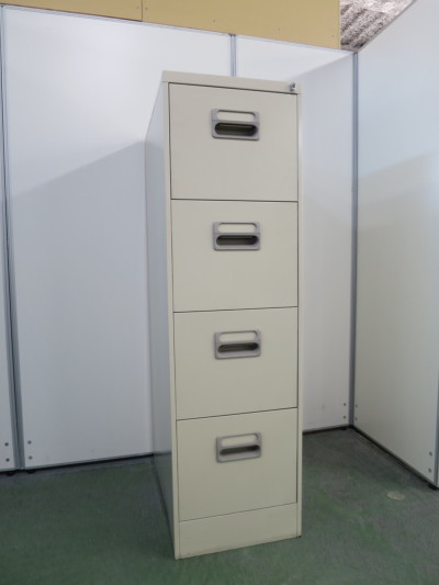 ライオン A4 4段ファイルキャビネット 中古|オフィス家具|書庫