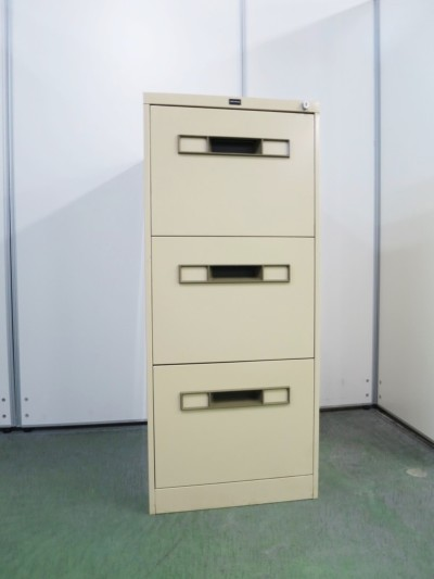 ウチダ(内田洋行)  B4 3段ファイルキャビネット  中古|オフィス家具|書庫