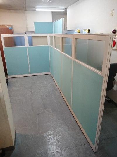 イトーキ 6連L型パーテーション  中古|オフィス家具|パーテーション|自立式