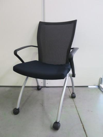 ヘイワース ネスティングチェア6脚セット 中古|オフィス家具|ミーティングチェア